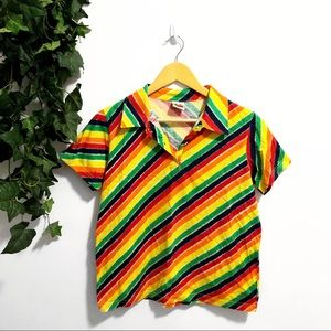 3/$25 🌵 Rainbow Collared T-Shirt